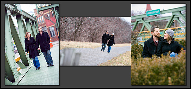 Engagement collage small gray background
